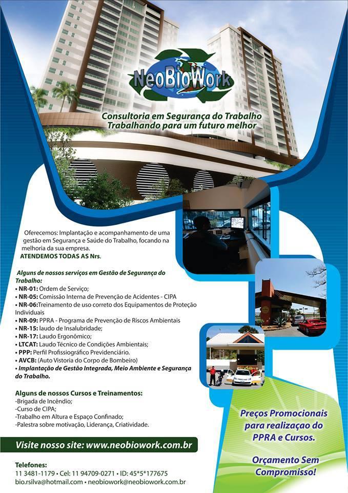 10649640 737923749594521 9106703692615775388 n - PPRA e PCMSO preço acessível e orientações (11)3481-1179 Saiba+!